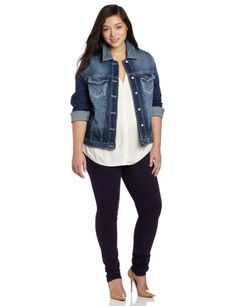 Silver Jeans Juniors Plus-Size Denim Jacket - List price: $108.00 Price: $62.33 Saving: $45.67 (42%) + Free Shipping