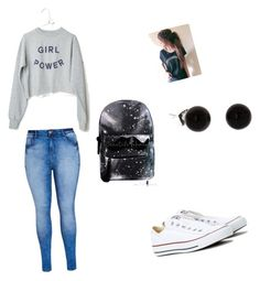 """""""Idk"""" by miarivera145 ❤ liked on Polyvore featuring City Chic and Converse"""