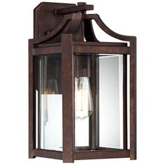 "Rockford Collection 16 1/4"" High Bronze Outdoor Wall Sconce - Lamps Plus - for Cabin, exterior lighting"