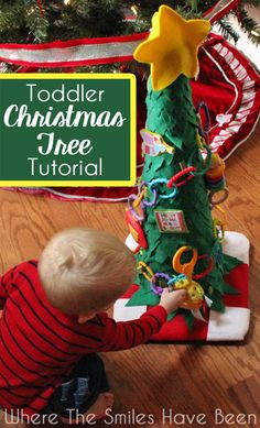 This is such a neat idea to keep the little ones OFF the real tree!  Toddler Christmas Tree Tutorial | Where The Smiles Have Been