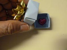 Origami mini paint-chip box