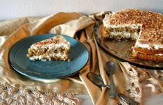 Τούρτα αμυγδάλου - cretangastronomy.gr Greek Desserts, Tiramisu, French Toast, Deserts, Sweets, Breakfast, Ethnic Recipes, Layer Cakes, Food
