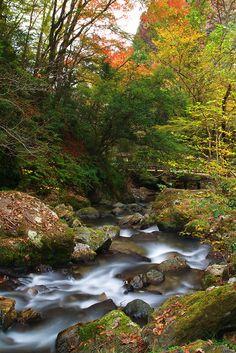神庭の滝(岡山・真庭) Kamba water falls, Maniwa, Okayama, Japan