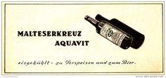 Original-Werbung/ Anzeige 1958 - MALTESERKREUZ AQUAVIT - ca. 180 x 80 mm