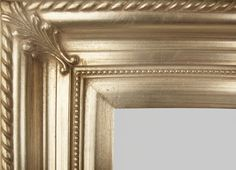"""Beautiful Picture Frame! Perfect For Artwork, Photographs, Canvas Paintings, Oil Paintings, Watercolor Paintings, Acrylic Paintings, Portraits, Wedding Pictures, Diplomas, Family Photographs & More.  Classic Wooden Champagne Silver Beaded 3.25"""" Picture Frame."""