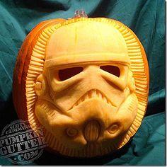 Storm Trooper Pumpkin Carving made by Scott Cummins