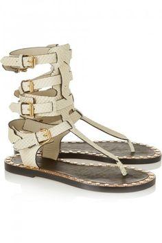 3c50f5fd6f6b Isabel Marant - Jeepy studded snake-effect leather sandals