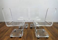 Set of Vintage Lucite Dining Chairs - Mecox Gardens