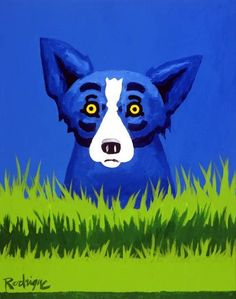 The Blue Dog is a Louisiana Famous Face just as much as his creator was, George Rodrigue!