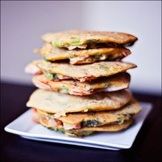 Looking for Fast & Easy Breakfast Recipes, Gluten Free Recipes, Vegan Recipes! Recipechart has over free recipes for you to browse. Find more recipes like Spicy Chickpea Vegetable Pancakes. Vegan Gluten Free, Vegan Vegetarian, Vegetarian Recipes, Healthy Recipes, Dairy Free, Healthy Food, Vegetable Pancakes, Chickpea Pancakes, Savory Pancakes