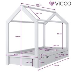 Image for VICCO children's bed WIKI cm white drawers house bed wooden children's hous Toddler Floor Bed, Toddler House Bed, Diy Toddler Bed, Toddler Rooms, Baby Bedroom, Baby Room Decor, Kids Bedroom, House Beds For Kids, Kid Beds