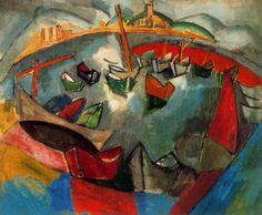 'bateaux dans marseille', 1908 de Raoul DUFY (1877-1953)