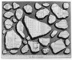 Fragments of a Plan of Ancient Rome.