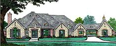 Elevation of French Country   Southern   House Plan 66241