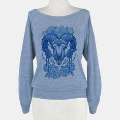 Flowery Ram Skull   HUMAN   T-Shirts, Tanks, Sweatshirts and Hoodies