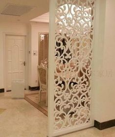 BuyToMe Shop Customized European-style hollow screen wind off the partition carved flower floor living room background wall modern partition wall living room Living Room Partition Design, Room Partition Designs, Wall Partition, Partition Ideas, Living Room Designs, Living Room Decor, Living Rooms, Living Room Divider, Flur Design
