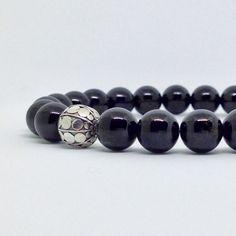 Black Turmaline & Sterling Silver