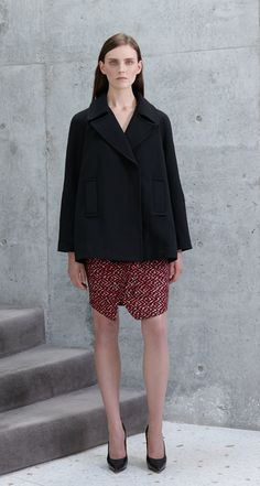 Scanlan Theodore Jagged Weave Dress and Trapeze Pea Coat