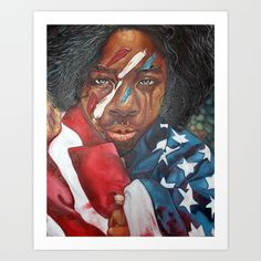 Sincerely+The+Black+Woman+Art+Print+by+Jon+Moody+-+$50.00