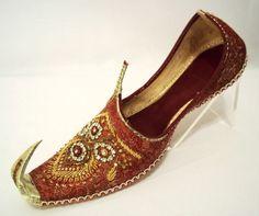 Asian Wedding Mens Leather Sherwani Khussa Shoes