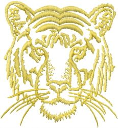 Heads(ATG Freedesigns) Embroidery Design: Tiger Face from Anns Club