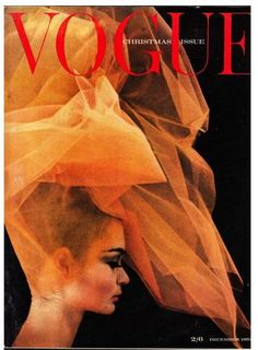 British VOGUE 1962 Miss Jean Shrimpton photographed by David Bailey and possibly using the same chiffon he used for the Stones Goatshead Soup album cover.