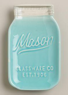 Mason Jar Ceramic Spoon Rest