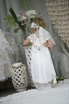 The Chloe baby dress is constructed from the softest of cotton voile's with a stunning flowing effect.  A feature of this dress is its gorgeous lace straps whi