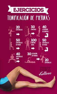 Te proponemos esta rutina de ejercicios para tonificar piernas. ¿Empezamos hoy? En poco tiempo notarás la diferencia.  #piernas #rutina #ejercicios #mujer #tonificar #pierna