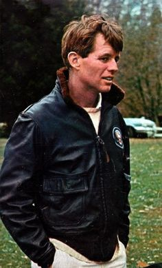 Robert F. Kennedy wearing his brother's presidential jacket.