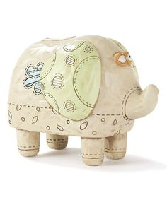 This Elephant Noah's Ark Bank by Dicksons is perfect! #zulilyfinds