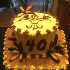 Louisiana Sportsman Fleur de Lis 40th cake