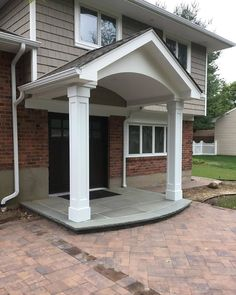 Improve your outdoor aesthetics and shield structural wooden porch posts with the innovative and stunning VERSAWRAP Column Wraps. Protective and decorative, these porch column wraps prevent water-damage, debris, and pests from harming the wood posts. 📸@kpkhomeimprovements Deck Posts, Porch Posts, Porch Column Wraps, Under Deck Drainage System, Porch Columns, Privacy Panels, Porch Area, Wood Post, Diy Porch