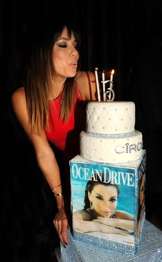 Eva Longoria The actress celebrates her 39th birthday with a lavish cake.