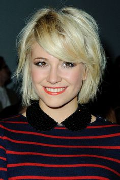 Pixie Lott's super-short blonde bob - celebrity hair and hairstyles