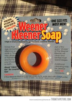 Men soap…(Wow. Oh and read the bottom, about it getting stuck!)