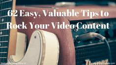 '62 Easy, Valuable Tips to Rock Your Video Content' This blog offers a way to create a video content strategy, 40 video content ideas, 5 ways to increase video views on YouTube, 7 common pitfalls marketers make developing video content, and 4 final video content hacks that will make it easier for your video content to be successful. Read the blog at http://budgetvertalingonline.nl/business/62-easy-valuable-tips-to-rock-your-video-content/