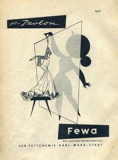 Fewa Feinwaschmittel, VEB Fettchemie Karl-Marx-Stadt, 1957 DDR Werbung