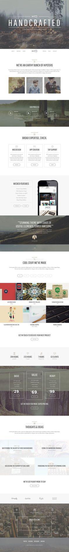 Loves Data Loves || Thread - Multi-Purpose Theme, modern vintage | Hand Made | Web design | Website | Black and White | Photography #WebDesign