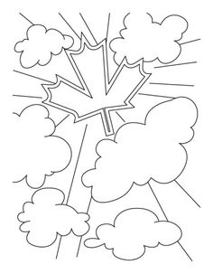 Celebrate Canada Day with big bang coloring pages Canada Winter, Canada Summer, Canada Holiday, Canada Day 2017, Happy Canada Day, Canada 150, Online Coloring Pages, Colouring Pages, Coloring Pages For Kids