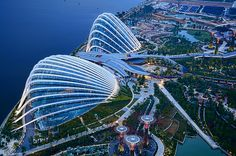 A Closer Look at Gardens by the Bay from SkyPark Pool Deck by williamcho, via Flickr
