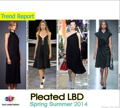 Pleated Black #Dress #Fashion Trend for Spring Summer 2014 #fashiontrends2014 #spring2014 #trends #pleats  #lbd