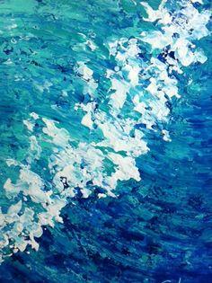 OLA HUATULCO - Susana King 2014 - Acrílico sobre fibracel 50x40 cm - $2000 - Facebook Susana King Galería de Arte  HUATULCO WAVE