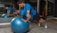 Push up sobre fitball