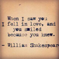 William Shakespeare. This is beautiful.