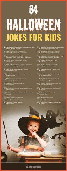 84 Funny Halloween Jokes For Kids Are you searching for some fun, top and silly jokes for kids? Here is the list of funny jokes for kids! So, switch off the TV and let these jokes roll on! Halloween Tags, Funny Halloween Jokes, Funny Jokes For Kids, Halloween Party Games, Silly Jokes, Halloween Quotes, Halloween Crafts For Kids, Holidays Halloween, Cheesy Jokes