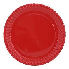 Kırmızı Karton Tabak 8-li