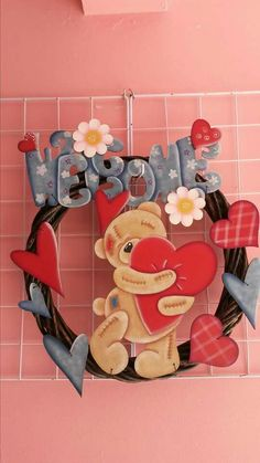 Valentines Day Decorations, Valentines Diy, Diy Cake Topper, Country Paintings, Country Art, Quilling, Diy And Crafts, Applique, Pintura Country