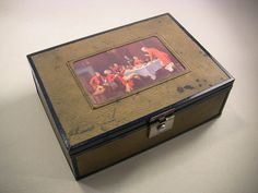 Vintage Cigar Box Mens Jewelry Box Trinket Box Cedar Lined Fully Stamped