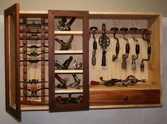 Tool Cabinet containing braces & drills.. Love those old tools.